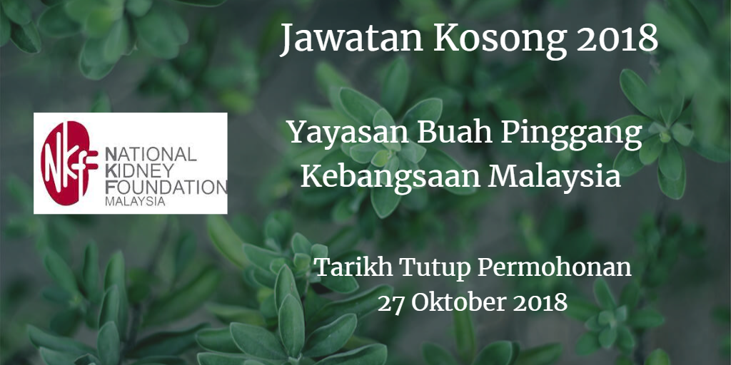 Jawatan Kosong NKF 27 Oktober 2018