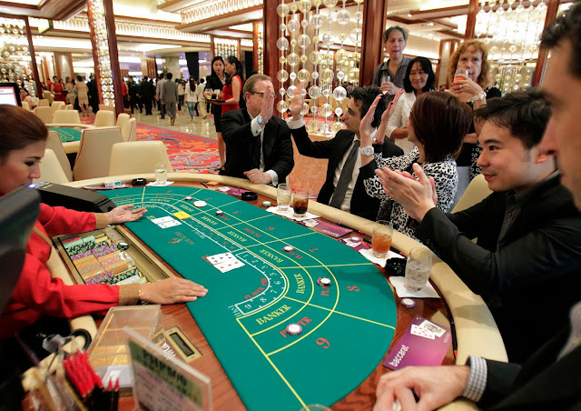 a real Baccarat table in casino