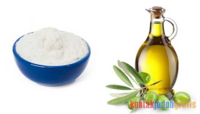 Beras dan minyak zaitun untuk memutihkan kulit