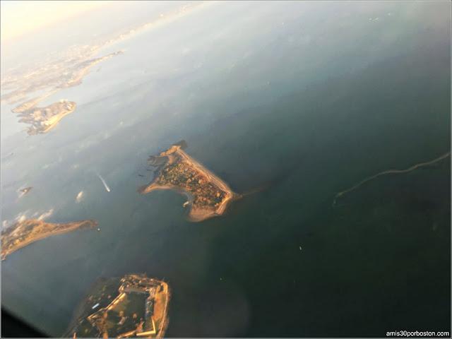 Vista Aérea de las Islas de Boston