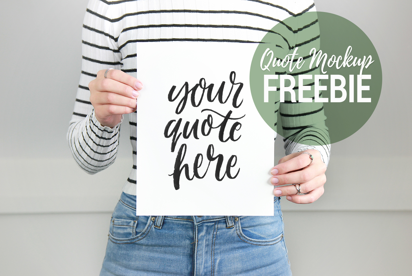 Quote product mockup freebie