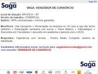 Emprego para Vendedor de Consórcio  - 09.05.18