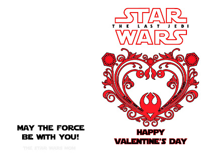 Star Wars The Last Jedi Valentine's Day Card #1