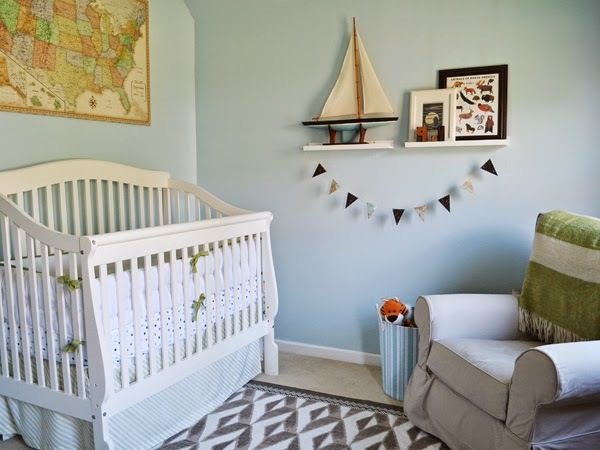 Travel Themed Bedroom For Seasoned Explorers: Pewter+sage: Ian's Nursery: The Reveal
