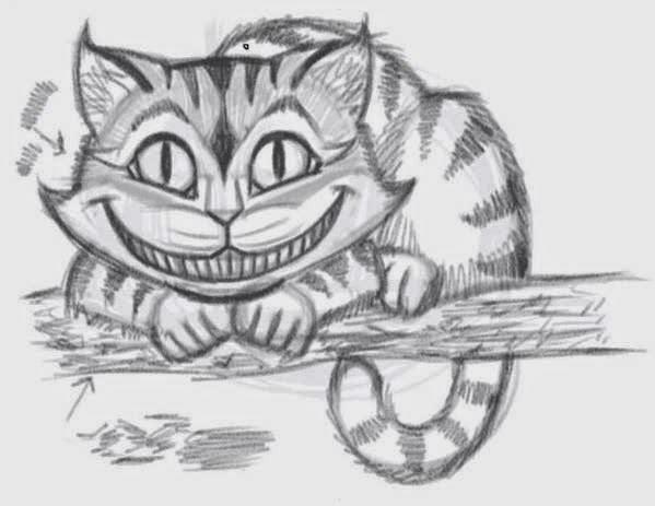How To Draw The Cheshire Cat?
