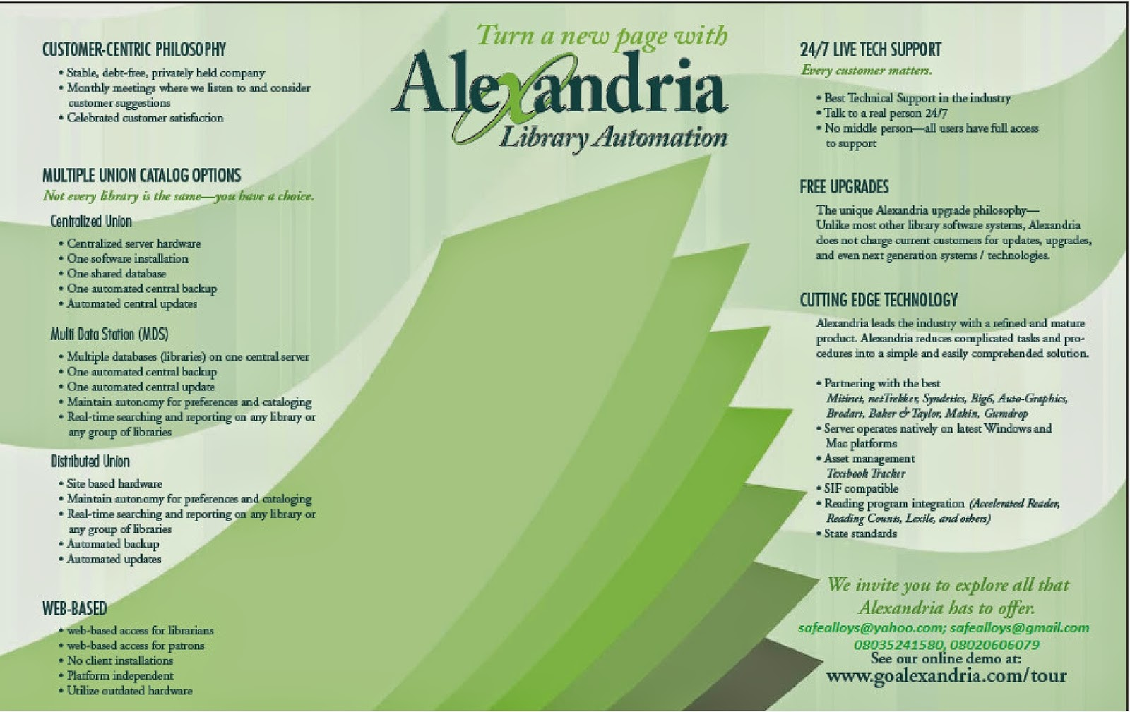 Nla Information Technology Section Alexandria Library Automation Software