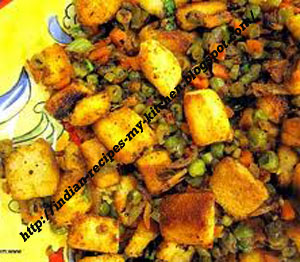 Vegetable bread pulav