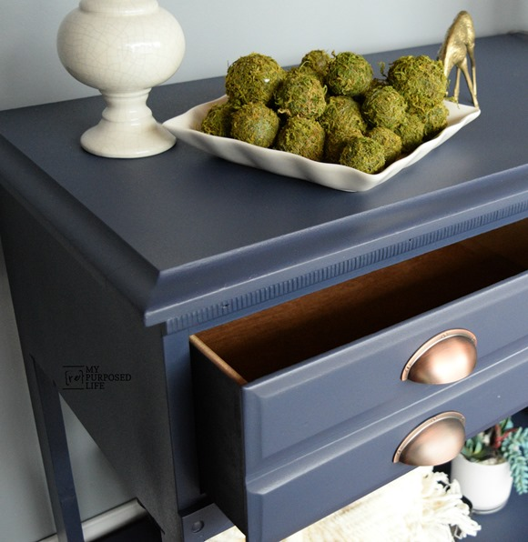 blue hall table dresser