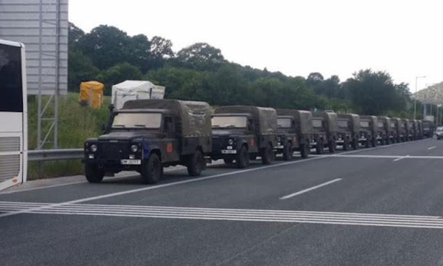 Albanian Military convoy blocked in Greece by communist protesters unblocked