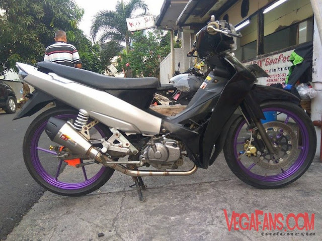 Vega R New Hitam Abu Abu Modif Road Race Simple