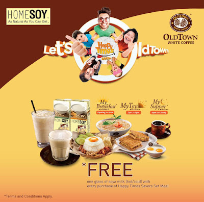 OLDTOWN White Coffee Malaysia HOMESOY Free Soya Milk