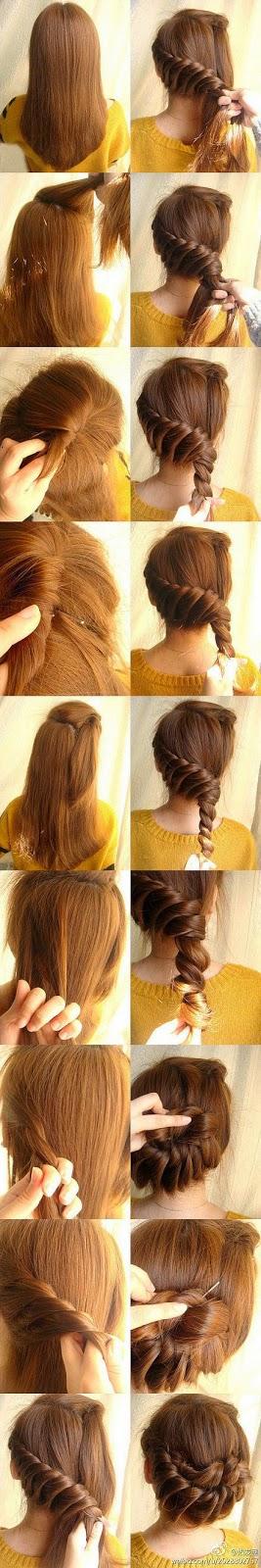Cara Menyanggul Rambut