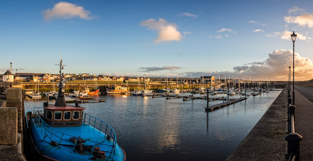 Photo of a wider view of Maryport Marina