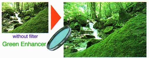 مثال  يوضح تأثير مرشح  المحسن على الصور