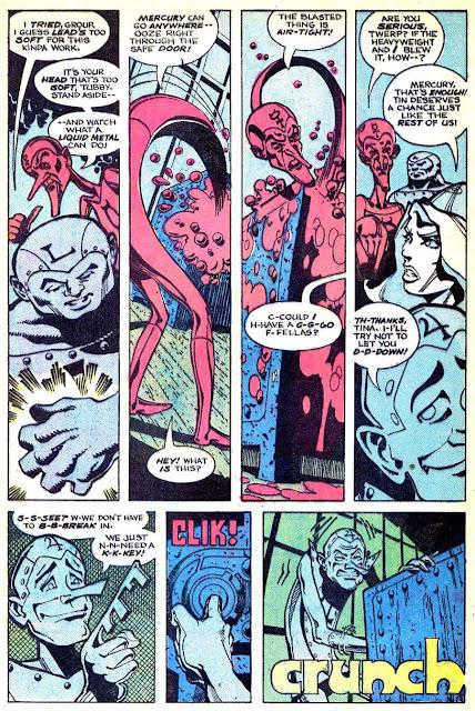 Metal Men v1 #45 dc 1970s bronze age comic book page art by Walt Simonson