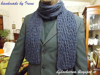 IL FILO CHE CREA: Sciarpa per uomo a maglia