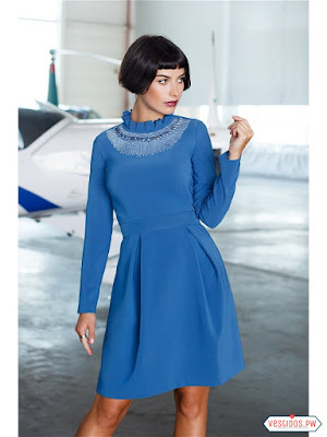 vestidos color azul de boda civil