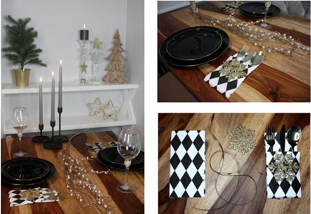 stół świąteczny - minimalizm