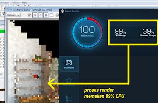 Cara mempercepat render - Kondisi CPU saat render