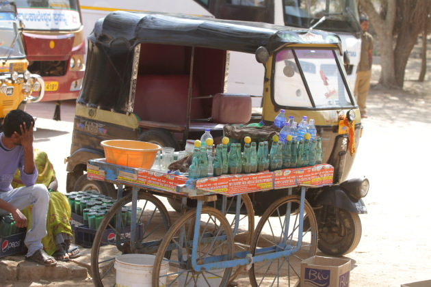 Goli soda - perfect way to beat the heat in Hampi