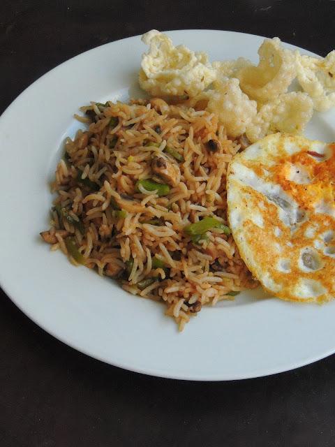 Mushroom & FLat beans Fried rice