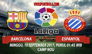 Prediksi Barcelona vs Espanyol 10 September 2017