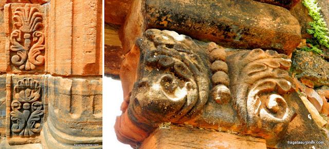 O estilo decorativo usado na Missão Jesuítica de San Ignacio Miní, chamado de Barroco-Guarani