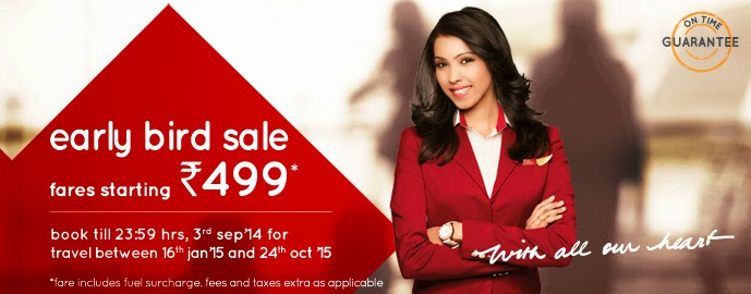 SpiceJet Early Bird Sale for Flights in 2015