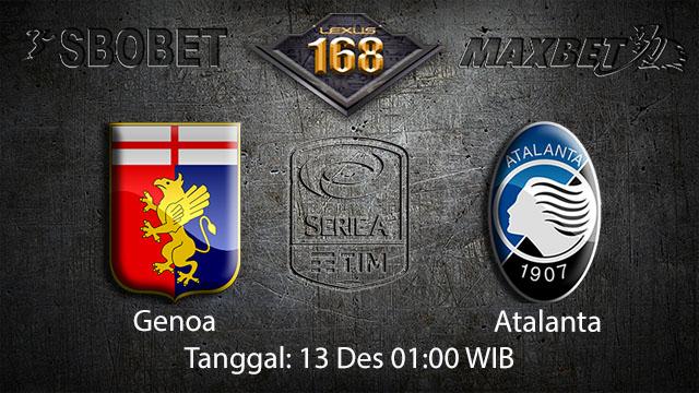 PREDIKSIBOLA - PREDIKSI TARUHAN BOLA GENOA VS ATALANTA 13 DESEMBER 2017 ( ITALIAN SERIE A )