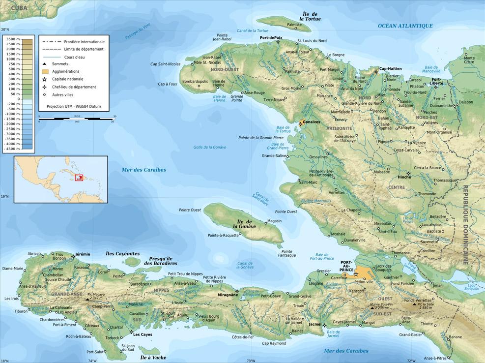 Haiti | Mapas Geográficos do Haiti