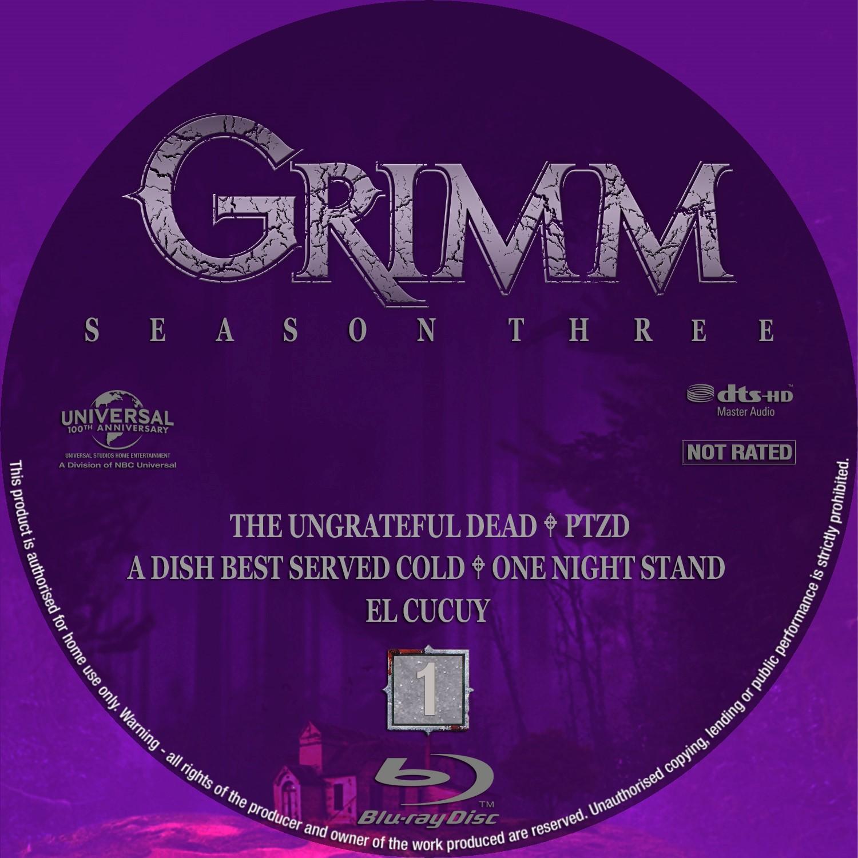 Label Bluray Grimm Terceira Temporada D1 a D5