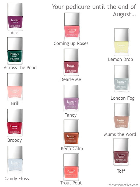 Which color will you choose for a pedicure?