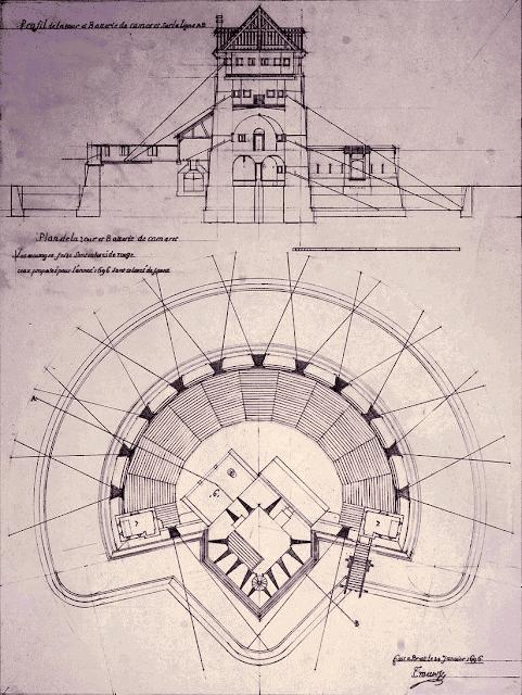 Tour de Camaret d'après un ingénieur de Vauban - 1694.
