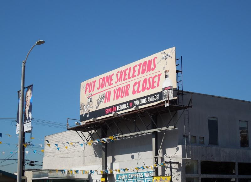 skeletons closet Espolon Tequila billboard