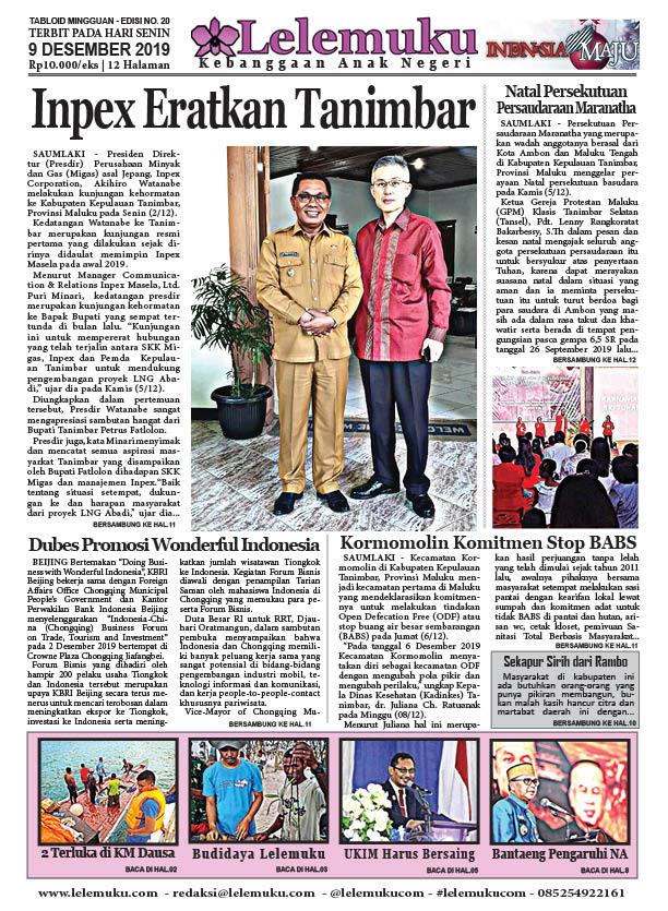 Tabloid Lelemuku #20 - Inpex Eratkan Tanimbar - 9 Desember 2019