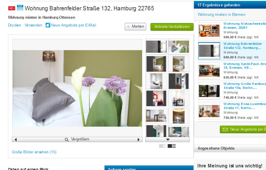 wmiete wohnung. Black Bedroom Furniture Sets. Home Design Ideas