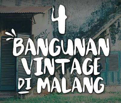 Bangunan bergaya vintage di Malang