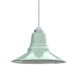 barn light electric pendant in mint green shabbyfufu