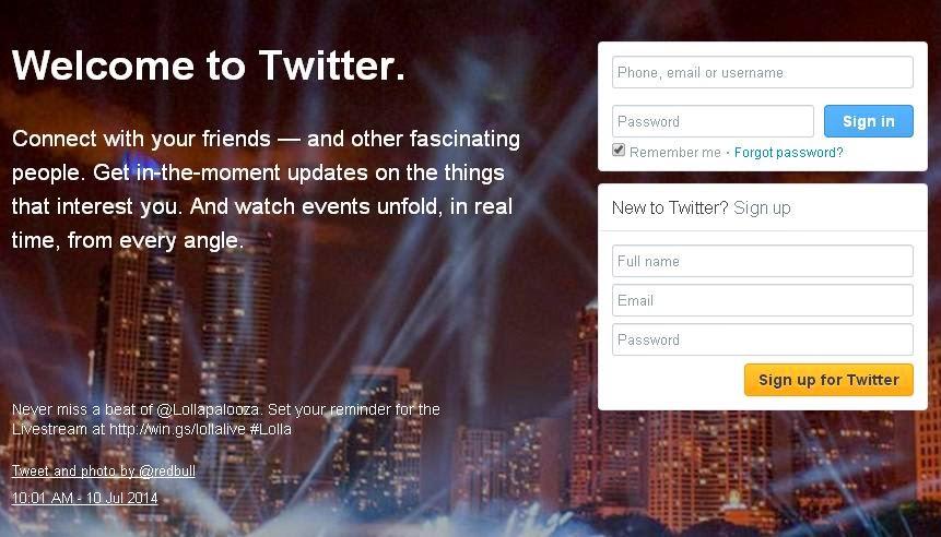 Cara Membuat Akun Twitter baru