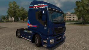 Williams Martini Racing for Iveco Hi Way Skin + Interior