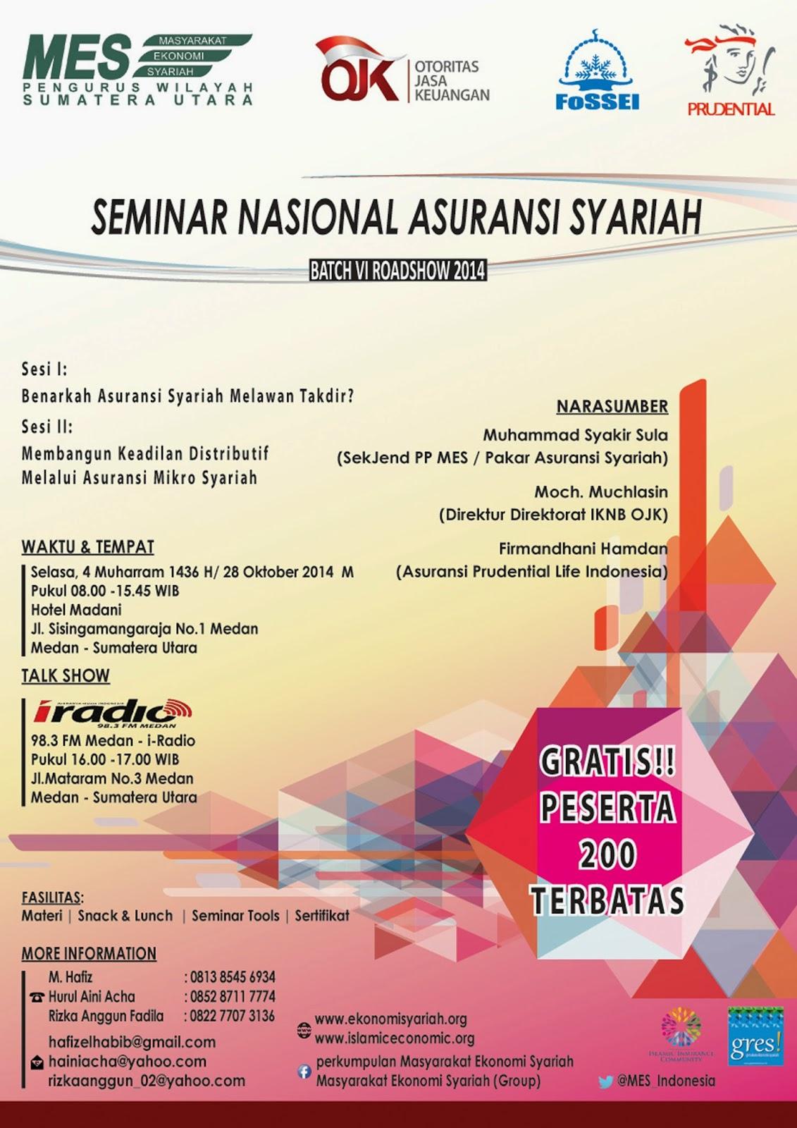 Roadshow Seminar Asuransi Syariah di Medan