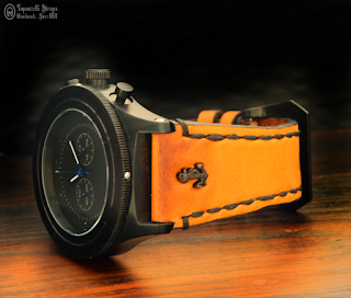 Leather watch strap. Handmade
