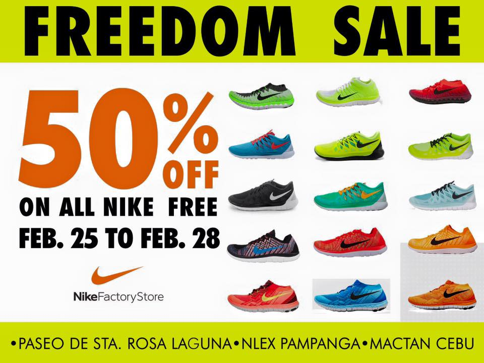 Manila Shopper Nike Outlet Stores Freedom Sale February 2016