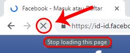tombol yang digunakan untuk menghentikan proses loading sebuah halaman web adalah