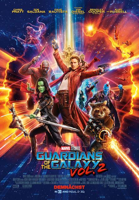 Guardiani della Galassia vol 2 recensione poster