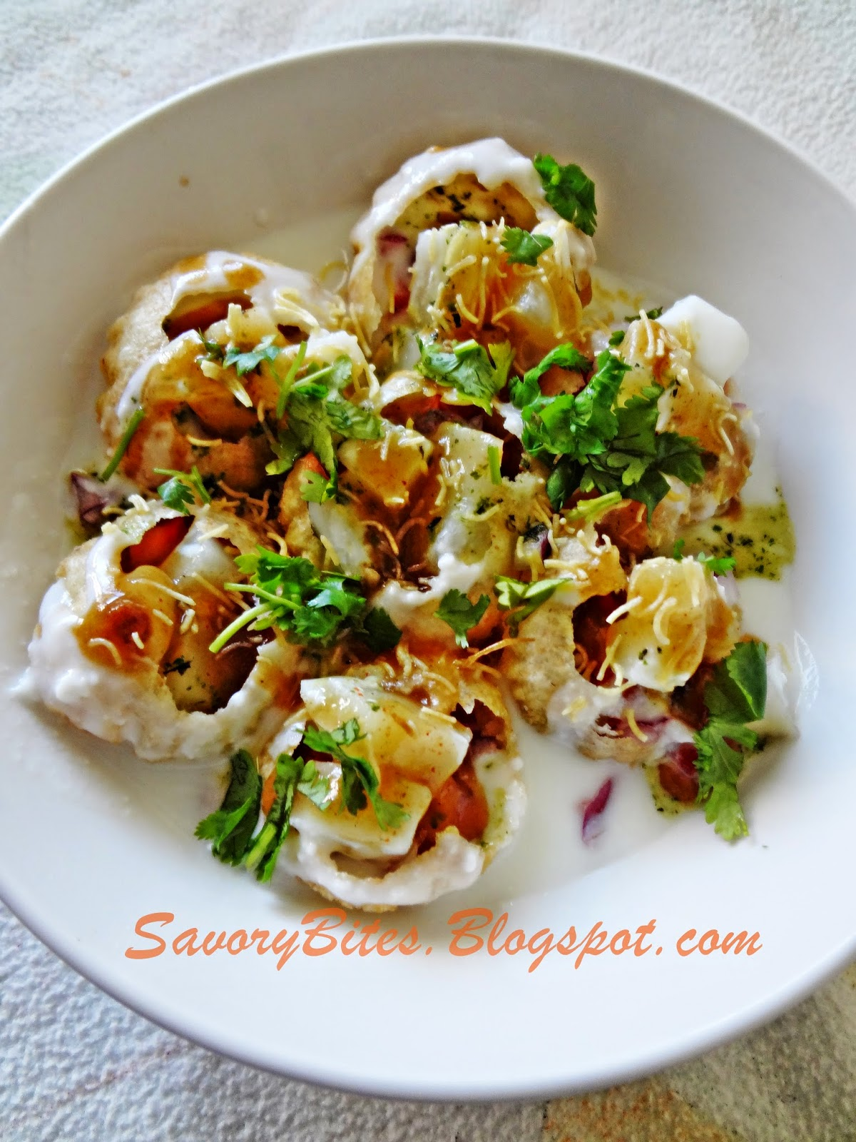 Dahi Batata Puri Chaat Indian Snacks Street Food