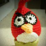 patron gratis pajaro rojo angry bird amigurumi | free amiguru pattern red bird angry bird