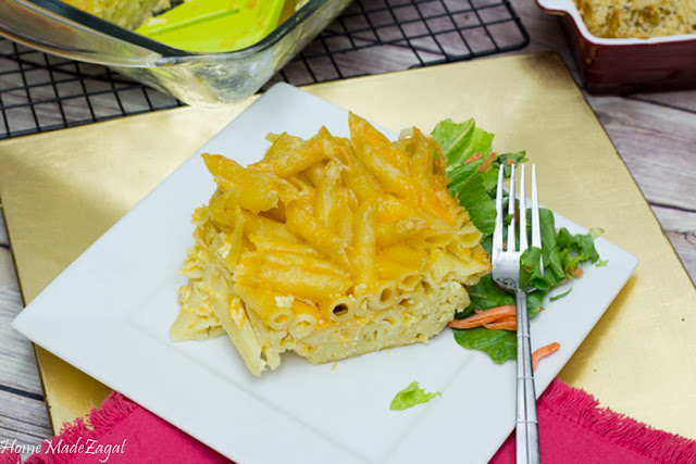 Trinidad Macaroni Pie - A baked macaroni and cheese version popular in Trinidad and Tobago. Creamy and cheesy.