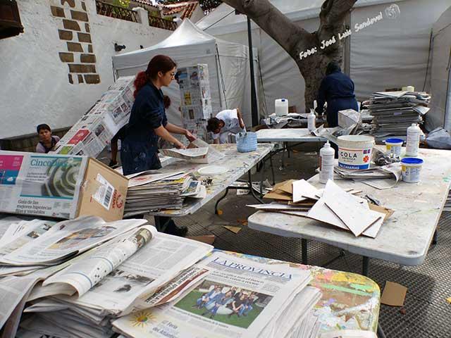 Preparativos feria del libro 30 edición, Las Palmas de Gran Canaria