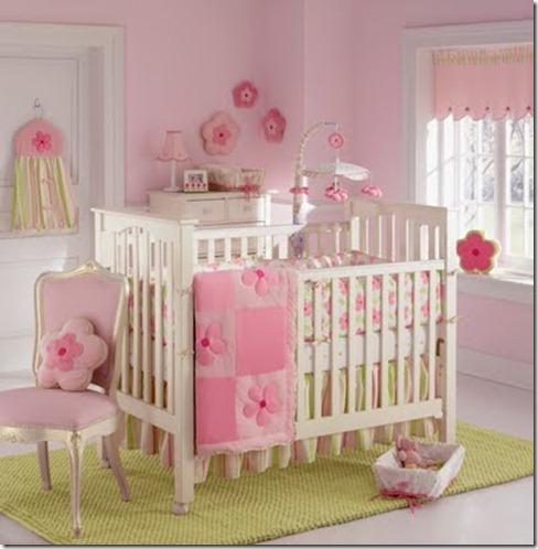 Dormitorio para bebes en rosado dormitorio infantil for Dormitorios infantiles para ninas